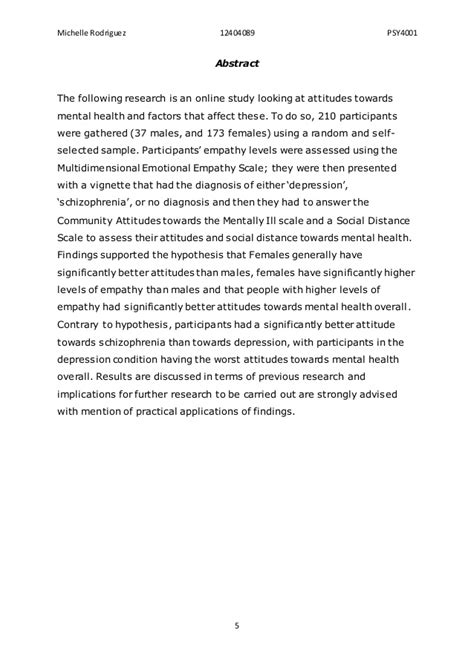 thesis abstract about depression attitudes toward mental health dissertation