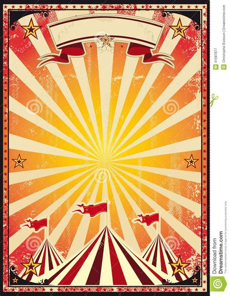 Circus Carnival Posters Red Vintage Circus Background For A Poster Circus Nior Circus Circus Poster Template Free