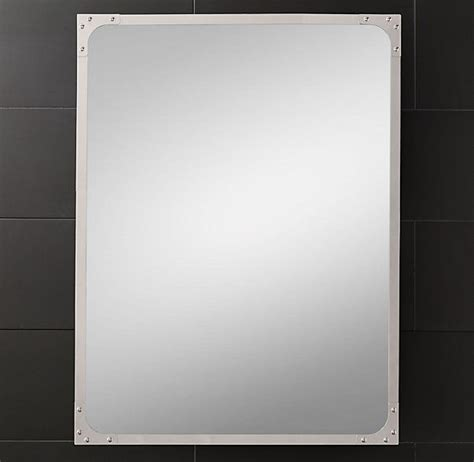 industrial rivet flat mirror from restoration hardware