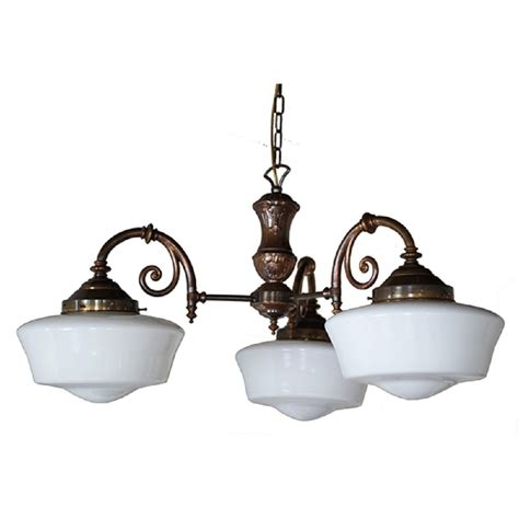 hanging ceiling lights 3 arm schoolhouse hanging ceiling pendant light with opal