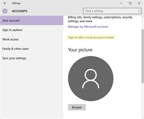 how to a local how to set up a local account in windows 10 during or after installation cso