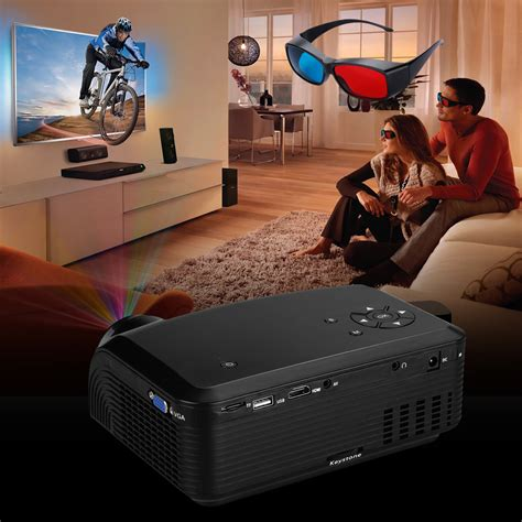 Tv Led Polytron Home Theater 100 lumens hd 1080p led lcd 3d vga hdmi tv home theater projector cinema us ebay
