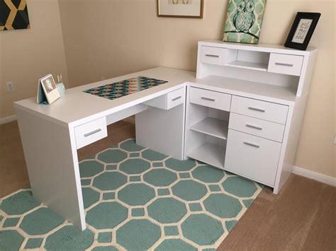 monarch specialties hollow l shaped home office desk white hollow desk desk design ideas