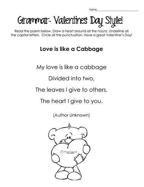silly s day poems for grammar practice free worksheets squarehead teachers