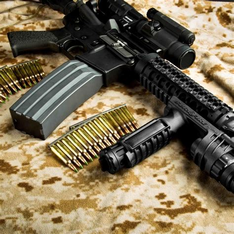automatic rifle surefire wallpaper wallpapers pic ipad