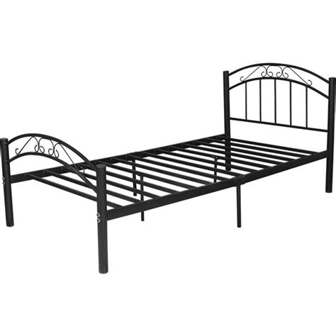 king single bed frame size cleveland king single size iron bed frame in black buy