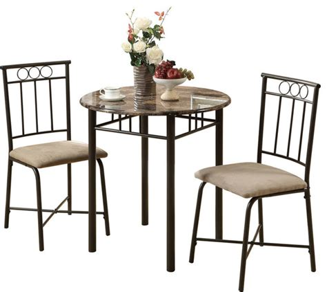 Indoor Bistro Table Monarch Specialties Cappuccino Marble Bronze Metal 3 Bistro Set Indoor Pub And Bistro