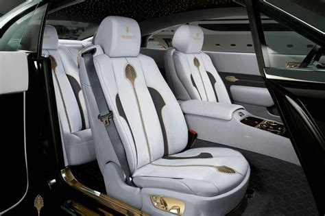 rolls royce gold interior mansory palm edition 999 rolls royce wraith adds gold