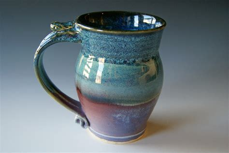 Handmade Clay Mugs - pottery coffee mug handmade wheel thrown pottery ceramic clay