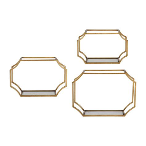 uttermost lindee gold wall shelves s 3