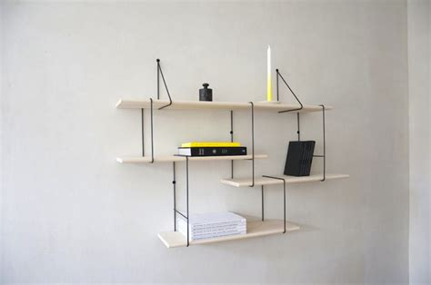 Minimal Shelf Brackets by A Minimal Shelf That Can Be Combined In Different Ways