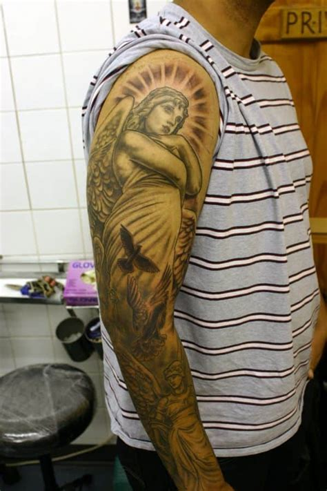 angel sleeve tattoos for men tattoos for ideas and inspiration for guys