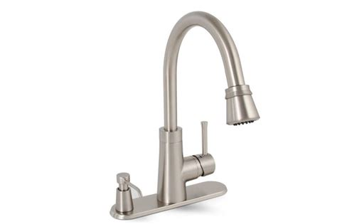 ultra modern kitchen faucets kitchen premier 120077 brushed nickel essen pullout spray