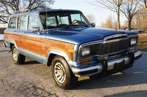 lowered jeep wagoneer buy used 1983 jeep grand wagoneer teak wood paneling rare