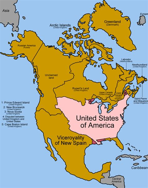 map of north america pictures file north america 1810 1816 png wikimedia commons