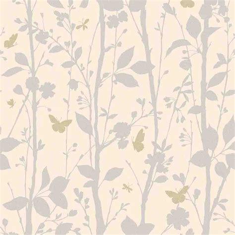 Wallpaper Uk 45cmx10m Silver Leaf decor geo butterflies glitter wallpaper