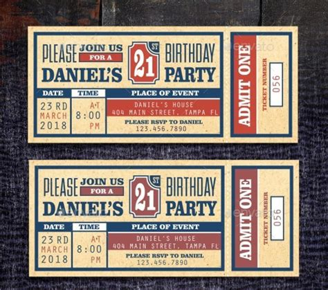Ticket Invitation Template Free by Ticket Invitation Template 59 Free Psd Vector Eps Ai