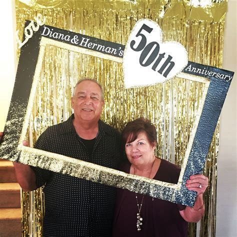 50th Anniversary Photo Booth Fun DIY Frame   Crafts By