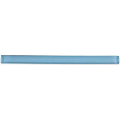 splashback tile aqua 3 4 in x 6 in glass pencil liner