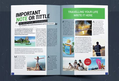 10 creative travel magazine templates for tourism