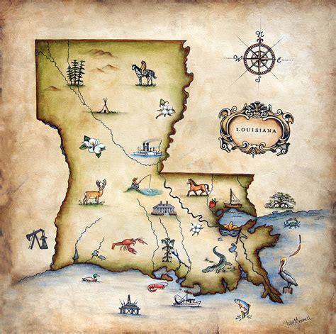 louisiana map drawing louisiana map by judy merrell