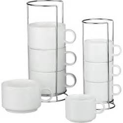 jumbo stacking mugs and stacking coffee mugs with metal racks crate and barrel