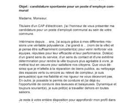 lettre de motivation employ 233 communal par lettreutile