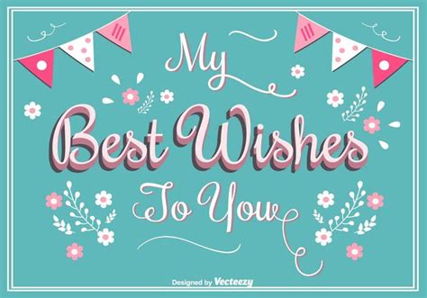 best wishes greeting card download free vector art