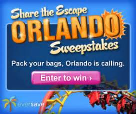 Eversave Sweepstakes - sweepstakes share the escape orlando