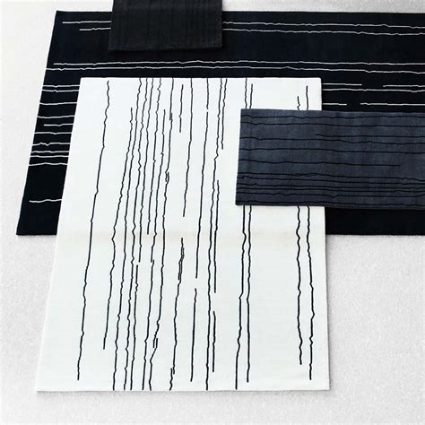 white rug with black lines woodline rug white with black lines