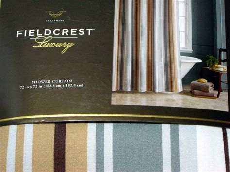 fieldcrest luxury shower curtain fieldcrest luxury stripe gray brown fabric shower curtain