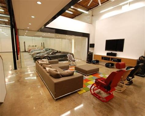 amazing car showroom design with living room luxury living room amazing garage living room with regard to car