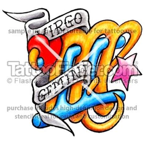 maybe for sara and eddie virgo and gemini tattoo design