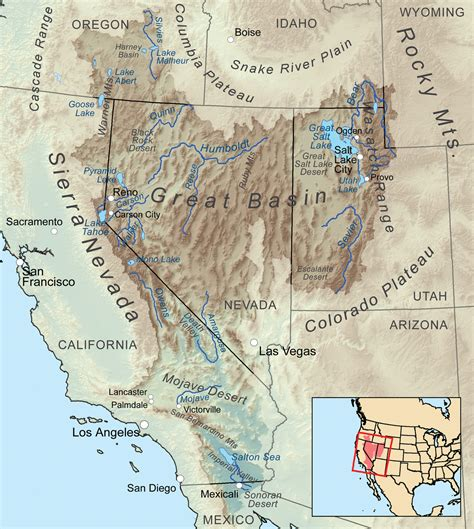 map of the united states great basin great basin wikipedia