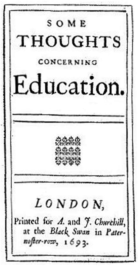 themes concerning education some thoughts concerning education wikipedia