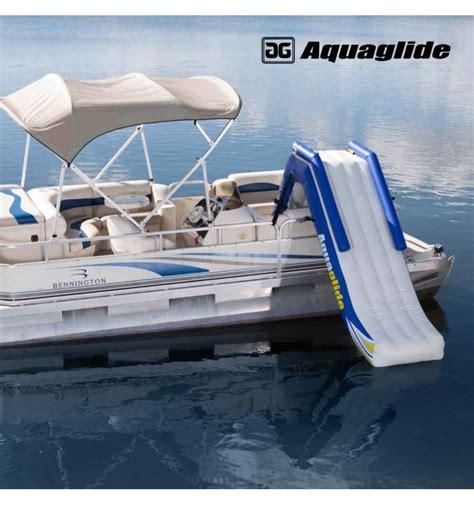 inflatable pontoon boat slide aquaglide pontoon slide floating inflatable slide