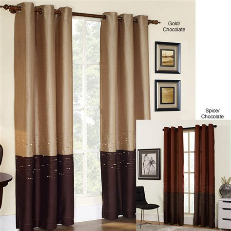 63 curtain panels horizon embroidered grommet 63 inch curtain panel