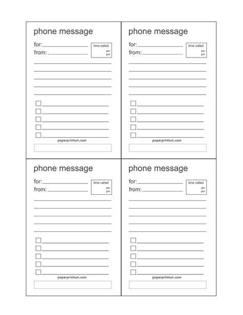 phone message template search results for telephone message template printable
