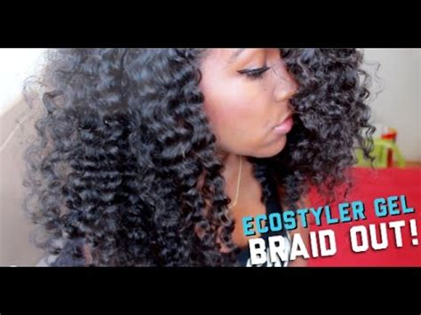 natural hairstyles using gel natural hair perfect ecostyler gel braid out youtube