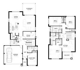 modern 2 story house floor plans modern house small 2 storey house plans pinteres