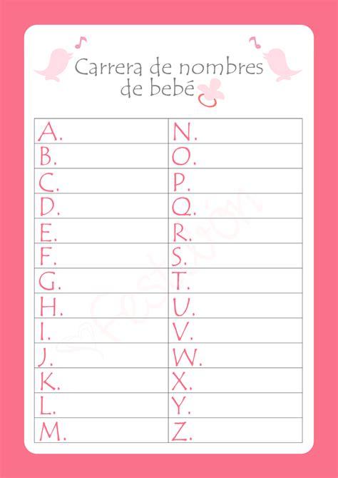 Juegos Par Baby Shower by De Nombres De Beb 233 Juegos De Baby Shower