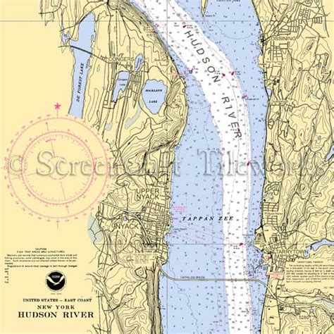 Kitchen Collection Free Shipping new york nyack tappan zee hudson river nautical chart