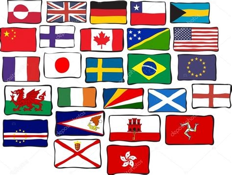 flags of the world clipart selection of world flags stock vector 169 prawny 64286633