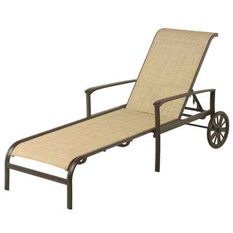sling chaise lounge edgewood adjustable sling chaise lounge by alu mont for