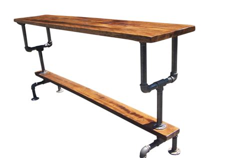 industrial bar height table industrial style bar height table with metal pipe base and