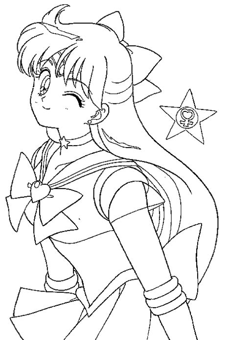 Jamie Lain S Sailor Moon Colouring Book Sailor Venus Coloring Pages