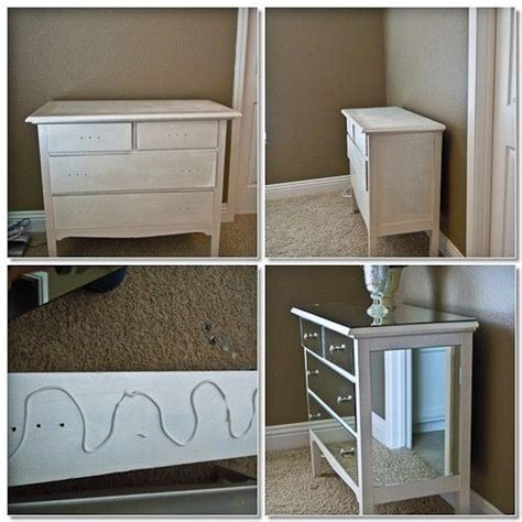 Diy Mirrored Desk Mirrored Dresser Diy Painted Furniture Pinterest