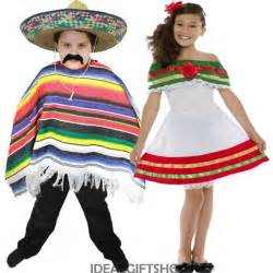 child s mexican fancy dress boys girls spanish costume
