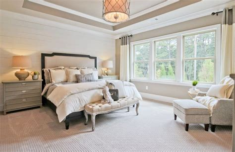traditional master bedroom traditional master bedroom with pendant light carpet