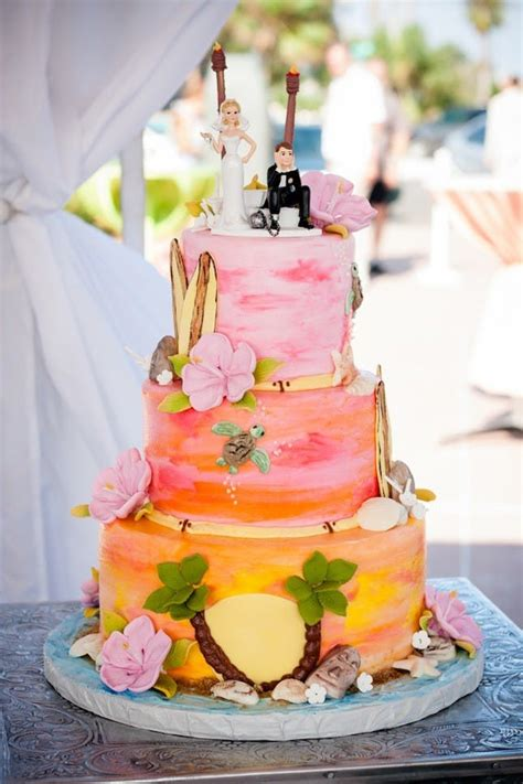 luau wedding cakes pictures 17 tropical wedding cakes for summer weddings brit co